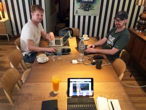 Aan het werk met andere digital nomads