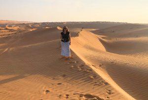 Selfie in de woestijn